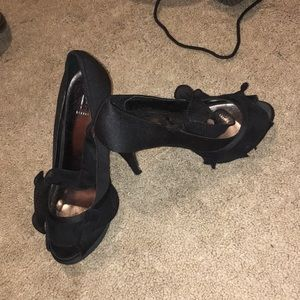 Black heels worn once